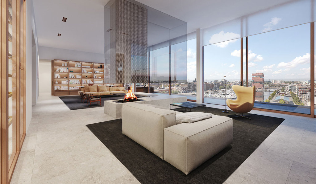 Project Aequor Penthouse Willemdok Antwerpen